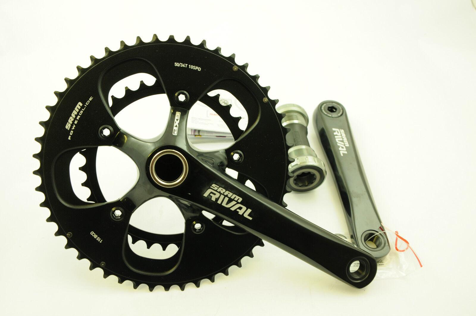 Sram Rival de 172.5 mm chainwheel Set Doble 50 34 Dientes 10 Spd 35% APAGADO PVP