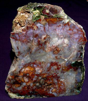 Aggressiv Purple Cow-jaspis, Standfläche, 2544,8g, 160x133x95mm, Heilstein Eine Hohe Bewunderung Gewinnen