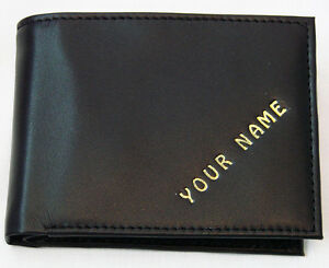 Man-039-s-wallet-PERSONALISED-WITH-ANY-NAME-cows-leather-FREE-P-amp-P-QUALITY-ITEM