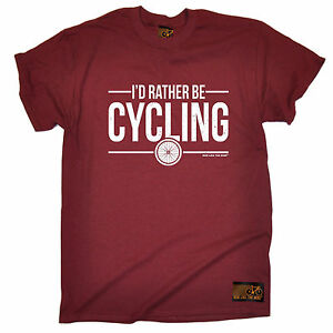 Id-Rather-Be-Cycling-T-SHIRT-tee-jersey-funny-birthday-gift-123t-present-for-him