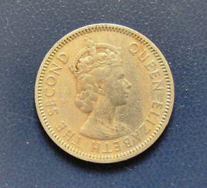 RHODESIA - 25 Cents 1955 coin Queen Elizabeth II