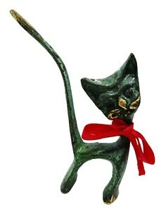 Ancient Greek Bronze Museum Statue Replica Cat