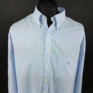 GANT-Mens-Shirt-3XL-Long-Sleeve-Blue-Regular-Fit-Check-Cotton