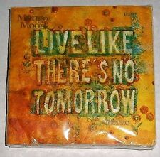 """Cocktail Napkins  LIVE LIKE THERE'S NO TOMORROW 20 Ct 2-Ply   9 4/5"""" x 9 3/4"""""""
