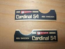 ABU GARCIA CARDINAL 54 STICKERS / DECALS / BADGES