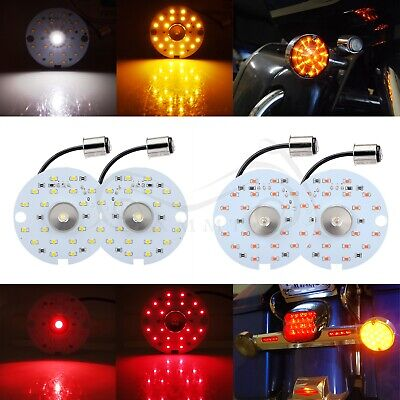 1156 /& 1157 Front Rear SMD LED Turn Signal Light Inserts Bulb For Harley Touring