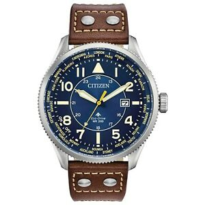 Citizen Eco-Drive Men's World Time Perpetual Calendar 44mm Watch BX1010-11L
