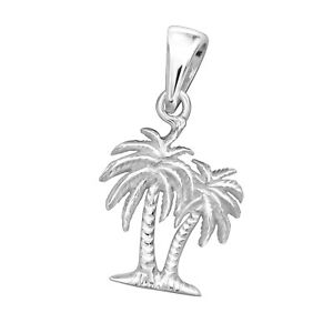 925 sterling silver palm tree pendant necklace chain included ebay image is loading 925 sterling silver palm tree pendant necklace chain mozeypictures Gallery