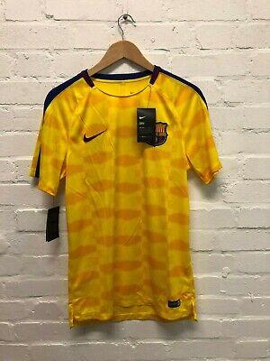 Nike FC Barcelona Herren Training T Shirt Medium Gelb NEU | eBay