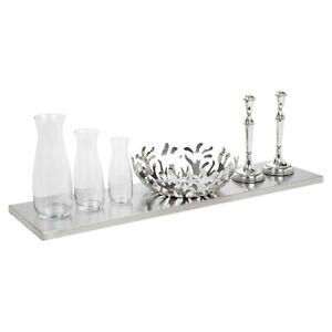 Stainless Steel Wall Mounted Shelf Metal Brackets 90x23.5cm Elegant Display Rack