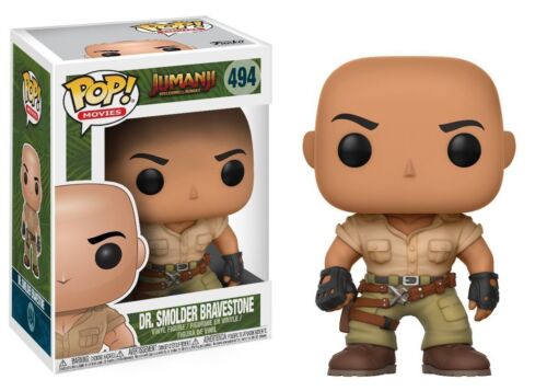 Jumanji Dr feu couvant bravestone (The Rock) 3.75 POP Vinyl Figure FUNKO 494