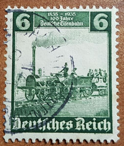 6 Pfg Deutsches Reich 100 Jahre Deutsche Eisenbahn MiNr. 580 (1E8)