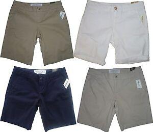 Womens-AEROPOSTALE-Solid-Uniform-Twill-Bermuda-Shorts-NWT-2199
