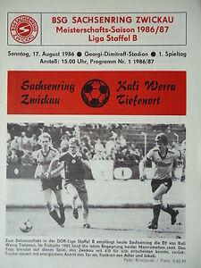 Programm 1987//88 BSG Sachsenring Zwickau Kali Werra Tiefenort