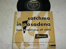 "10"" LOUIS ARMSTRONG ALL STARS SATCHMO IN PASADENA  BRUNSWICK VINYL LP 1955"