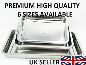 HEAVY-DUTY-LONG-LIFE-STAINLESS-STEEL-ROASTING-TRAY-BAKING-OVEN-DEEP-TRAY