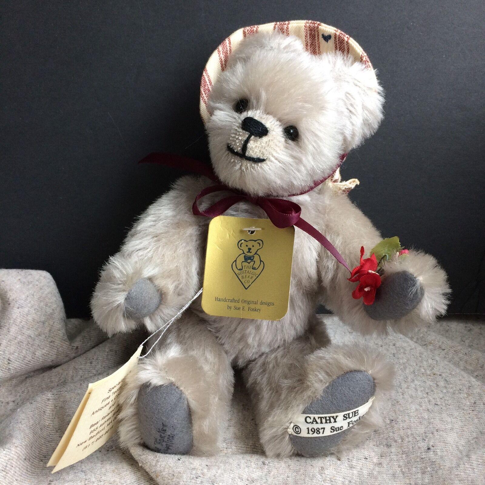 Artist orso signed by Sue Sue Sue Foschiave,Cathy Sue No-No orso, Rare Limited edizione 0b9c2a