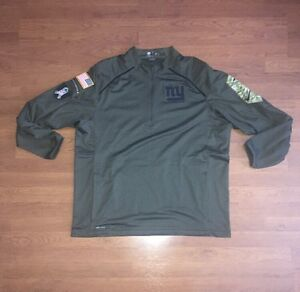 official photos 3429f c6f56 Details about Nike NFL New York Giants 2015 Salute to Service 1/4 Zip  Pullover Jacket 2XL Camo