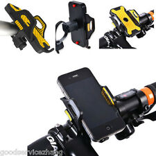 Yellow Motorcycle Bicycle Bike Handlebar Mount Cradle Holder For Cell Phone GPS