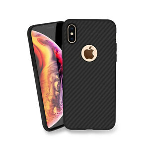 Apple iPhone Schutzhülle Handyhülle Hülle Case Schale Cover Carbon Schwarz