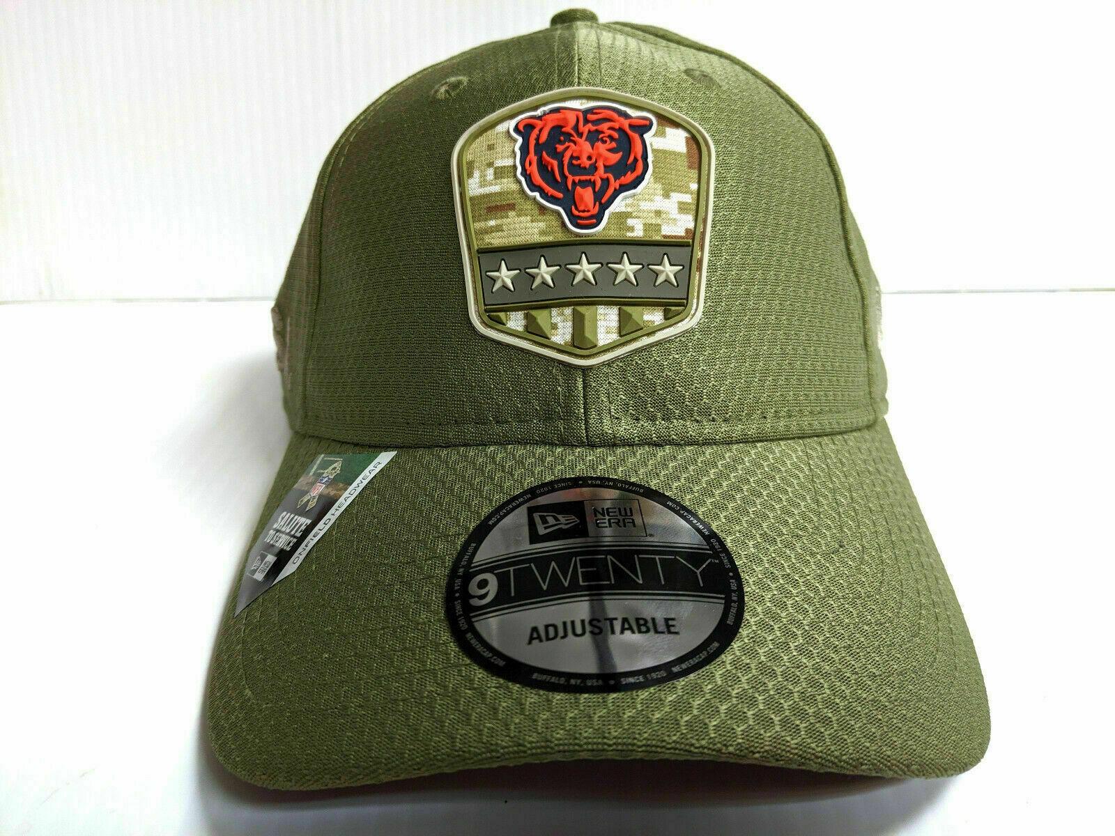 New Era Chicago Bears 9twenty Adjustable Cap on Field 2019 Salute to Service