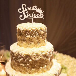 Image Is Loading Rustic Wooden Sweet Sixteen Cake Topper 16th Birthday
