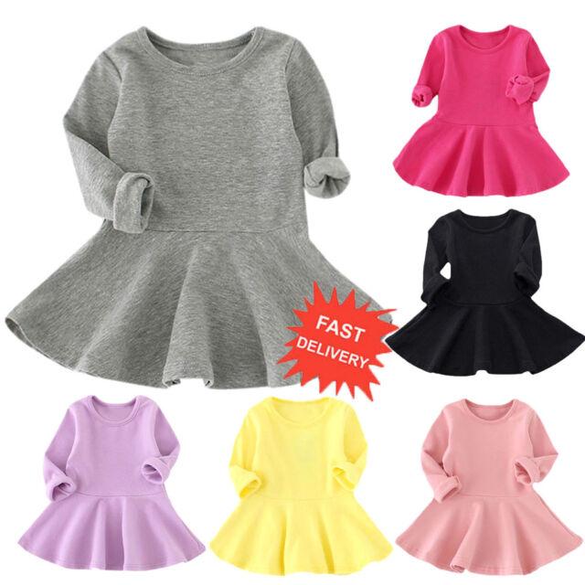Toddler Baby Girls Kids Autumn Clothes Long Sleeve Party Deer Tops T-Shirt