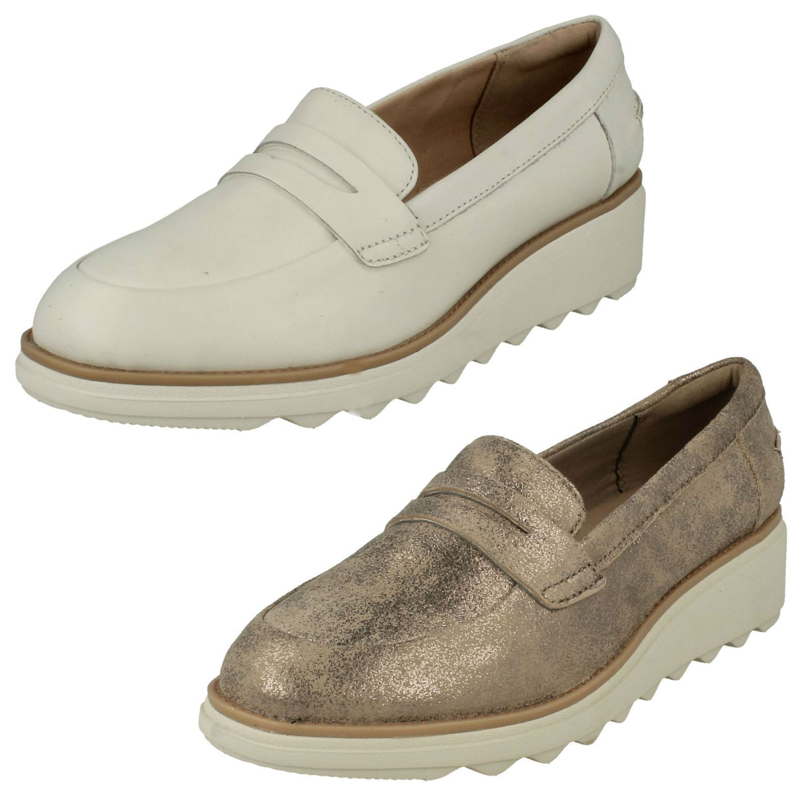 Sandali Donna Clarks Casual Mocassini Scarpe Zeppa-Sharon Ranch