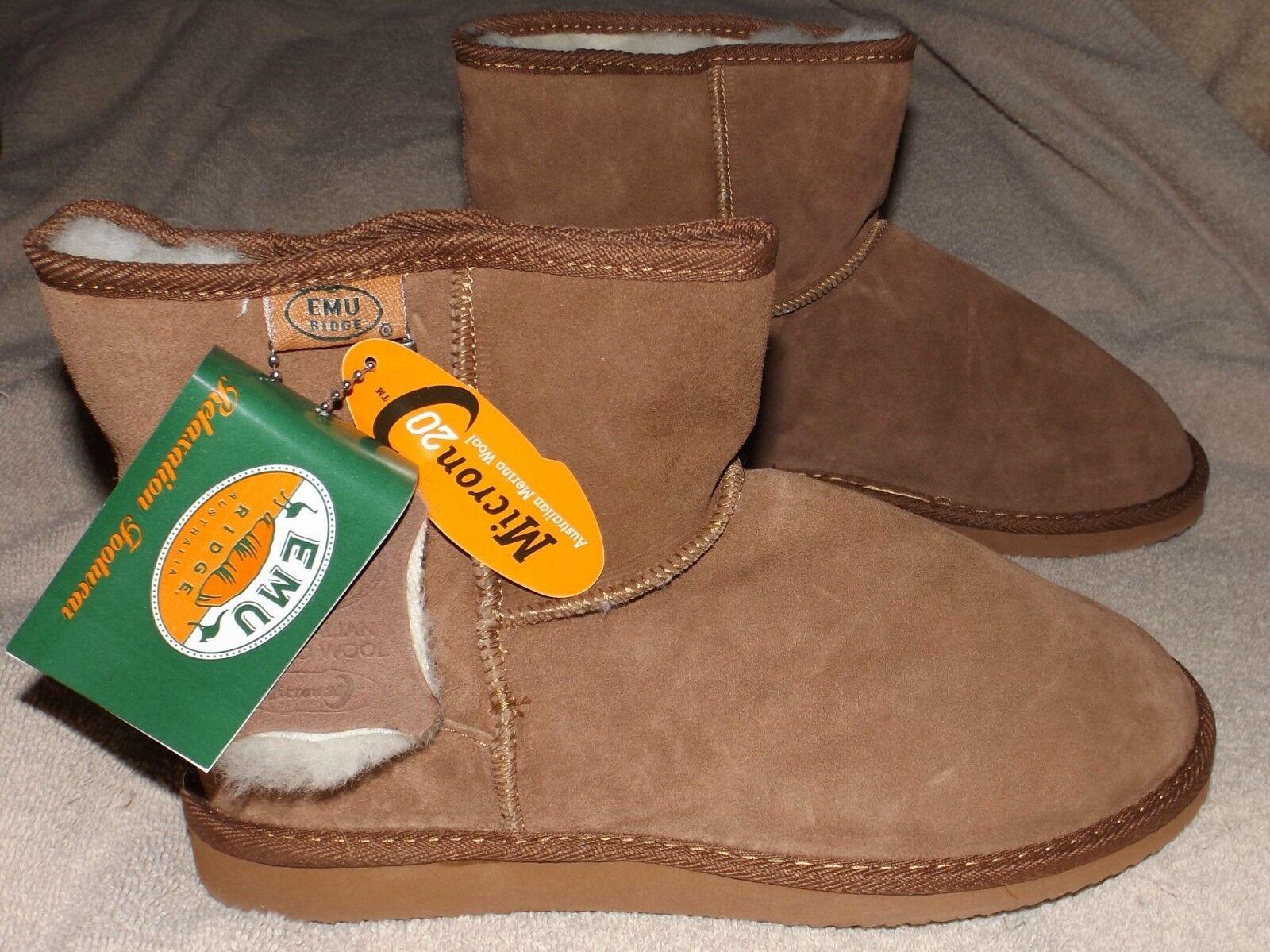 EMU Ridge  Chestnut Coloreeosso Suede stivali  economico in alta qualità