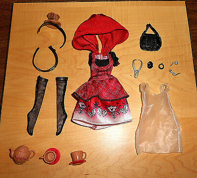 EVER AFTER HIGH - HAT-TASTING PARTY - CERISE HOOD - CLOTHES, ACCESSORIES OOAK