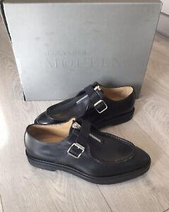 Alexander-McQueen-Zapatos-para-hombre-Scappa-Pelle-S-Gomma-negro-Talla-EU40-UK7-marca-Ne