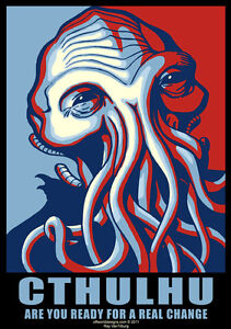 New-T-Shirt-Cthulhu-for-President-Campaign-Poster-HP-Lovecraft-OffWorld-Designs