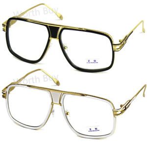 DMC-Retro-Vintage-Gazelle-Clear-Lens-Frame-Eyeglasses-Fashion-Oversized-Hip-Hop
