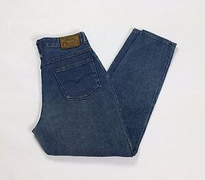 Uniform-jeans-vintage-donna-slim-w32-tg-46-mom-hot-vita-alta-blu-usato-T2073