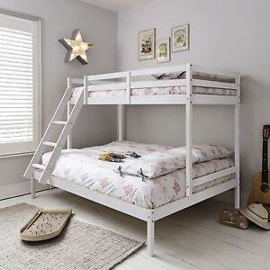 Image Is Loading Triple Sleeper Bed Bunk In White Double