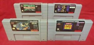 Speedworld-Lawnmower-Batman-Jungle-Book-Authentic-Super-Nintendo-SNES-Game-Lot