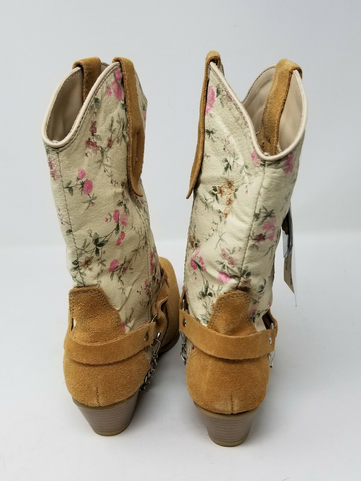 Santa Santa Santa Fe Women's Western Boot - Suede And Floral Leather - 7M 6a6134
