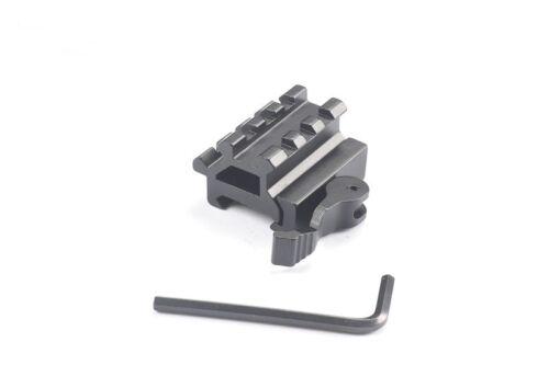 Quick Detach 90//45 Degree Dual Rail Picatinny Weaver Riser Mount 20mm Rail Hot