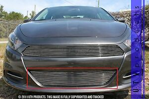 2017 Dodge Dart >> Details About Gtg 2013 2017 Dodge Dart 1pc Polished Custom Overlay Bumper Billet Grille