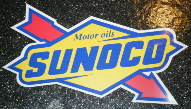 2 Sunoco Race Fuel Stock Car Americano NHRA Hot Rod Racing Vinyl Sticker  Decal