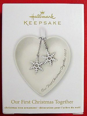 Hallmark Ornament - Our First Christmas Together (Heart w ...