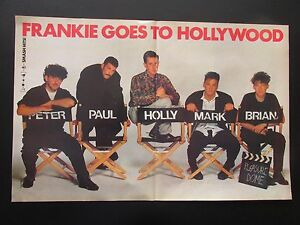 FRANKIE-GOES-TO-HOLLYWOOD-OLD-1984-CENTRE-FOLD-POSTER-FROM-SMASH-HITS