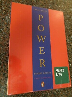 48 Laws of Power SIGNED COPY Robert Greene Sealed Box Set Mastery ...