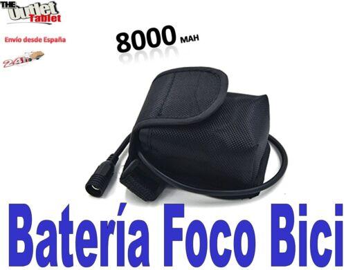 Batería recargable para foco bici con 8000mAh 6x18650 Para la luz para bicicleta