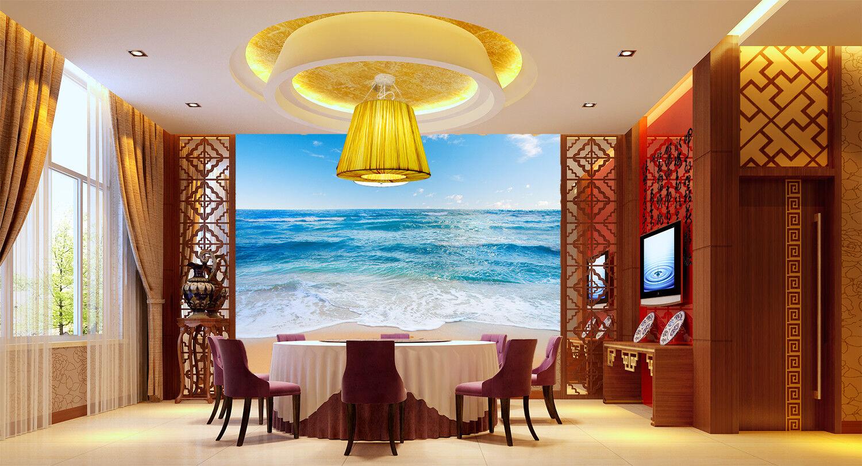 3D Blau Sky Waves 72 Wallpaper Mural Paper Wall Print Wallpaper Murals UK Lemon