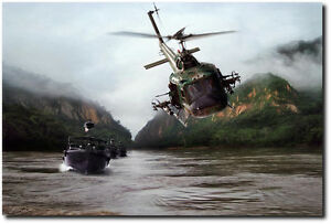 Huey Helicopter For Sale >> River Patrol by Peter Chilelli - UH-1 Huey Gunship Helicopter - Vietnam Art | eBay