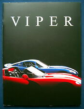 Prospekt brochure 1997 Chrysler Dodge Viper (USA) * PRESTIGE