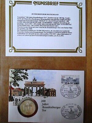 Numisbrief Limitiert 200 J Brandenburger Tor 10 Dm Silbermünze Erstausgabe 1991 MöChten Sie Einheimische Chinesische Produkte Kaufen?