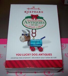 2014 HALLMARK KEEPSAKE CHRISTMAS ORNAMENTS YOU LUCKY DOG ...