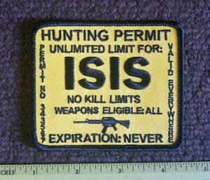 ISIS HUNTING PERMIT BLACK UNLIMITED PERMIT NO KILL LIMIT ... No Limit Logistics